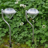 Outdoor LED Solar Powered Diamond Shaped Garden Path Stake Lanterns