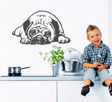 Pug Snooze Dog Wall Decal