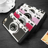 3D Retro Camera Phone Case For iPhone