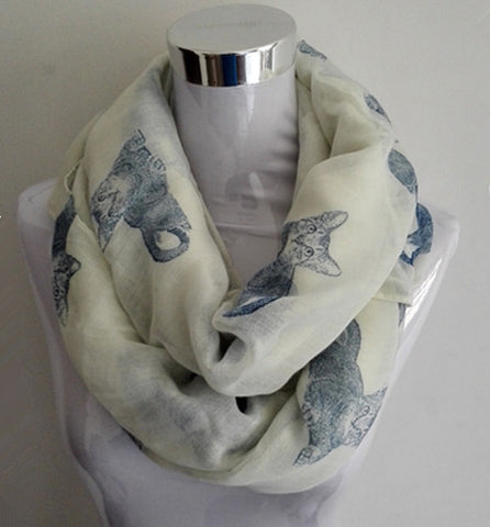 Big Cat Patten Loop Scarf