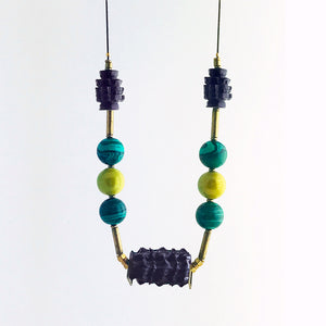 Black / green-necklace-malachite