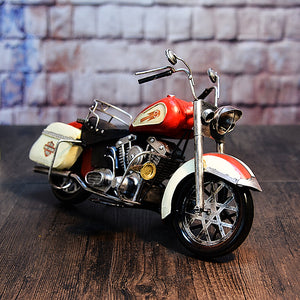 Large Scale Full-Iron Handmade Model Car - Classic Motorcycle Harley Davidson 1950s FL Series - Arts & Entertainment - Hobbies & Creative Arts - Collectibles - Scale Models - PlayAge