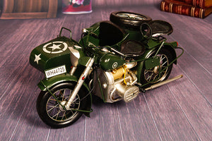 Large Scale Full-Iron Handmade Model Car - Military WWII US Army Motorcycle Harley Davidson WL Series with Sidecar - Arts & Entertainment - Hobbies & Creative Arts - Collectibles - Scale Models - PlayAge