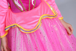 Princess Costume - Barbie Pink Long Sleeve Bubble Gown Skirt Aurora Dress - Apparel & Accessories - Clothing Activewear - Dance Dresses, Skirts & Costumes - PlayAge