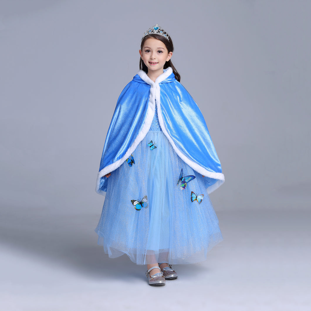 Princess Costume - Pale Blue Elsa Long Cape - Apparel & Accessories - Clothing Activewear - Dance Dresses, Skirts & Costumes - PlayAge
