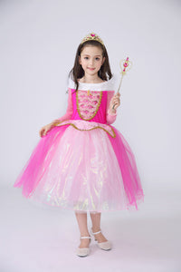 Princess Costume - Barbie Pink Bubble Gown Skirt Aurora Dress - Apparel & Accessories - Clothing Activewear - Dance Dresses, Skirts & Costumes - PlayAge