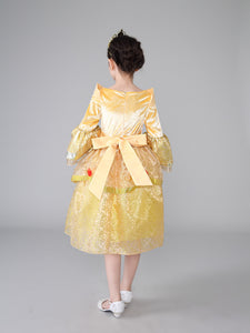 Princess Costume - Light Yellow Bubble Gown Skirt Belle Dress - Apparel & Accessories - Clothing Activewear - Dance Dresses, Skirts & Costumes - PlayAge