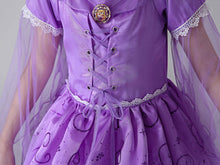 Princess Costume - Lavender Short Sleeve Bubble Gown Skirt Rapunzel Dress - Apparel & Accessories - Clothing Activewear - Dance Dresses, Skirts & Costumes - PlayAge