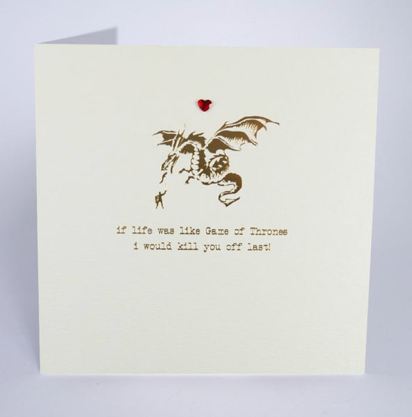 Game of Thrones Love Card