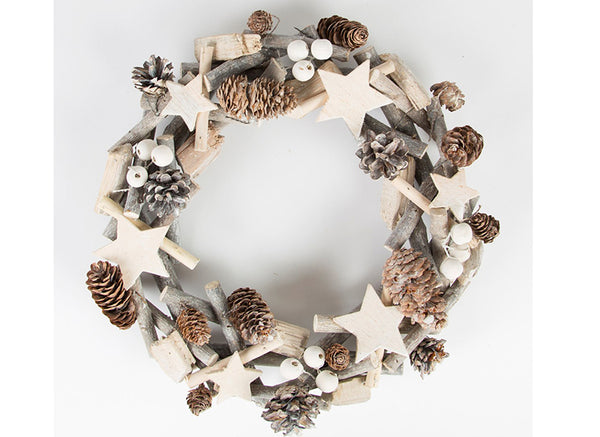 White Christmas Icy Wreath