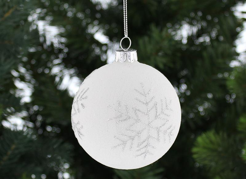 White-Glass-Bauble-With-Glitter-Snowflake
