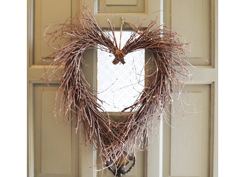Whitewashed Heart Wreath
