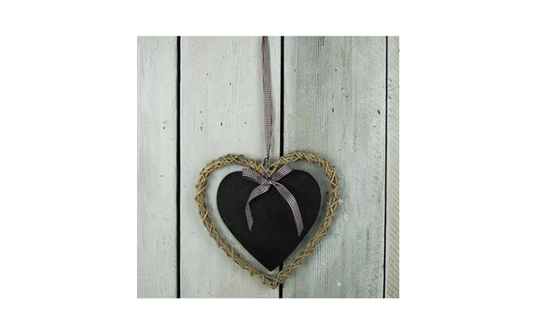 Wicker Blackboard Heart