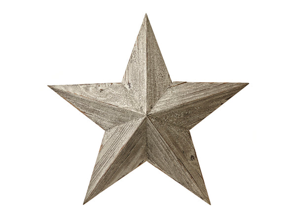 White Wooden Amish Lucky Barn Star