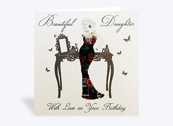 Beautiful Daughter With Love Birthday Card
