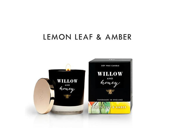 Black Lemon Leaf and Amber 220g - Candle