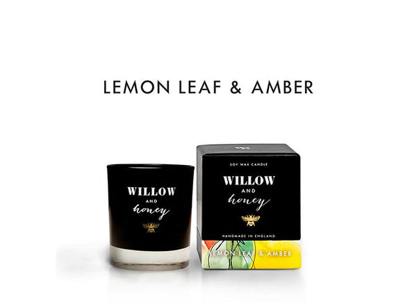 Black Lemon Leaf and Amber 60g - Mini - Candle