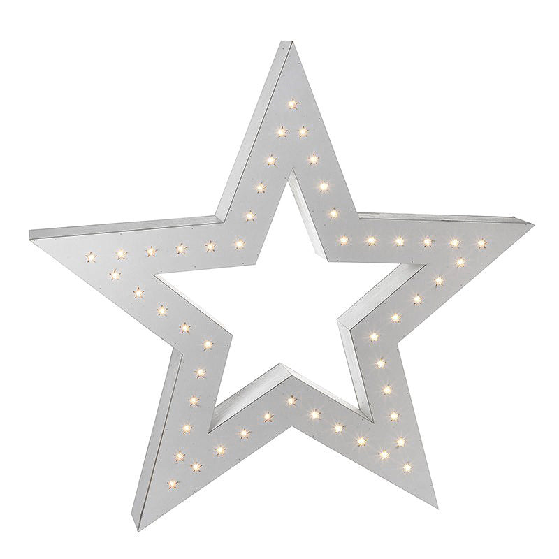 Extra large wooden light up star
