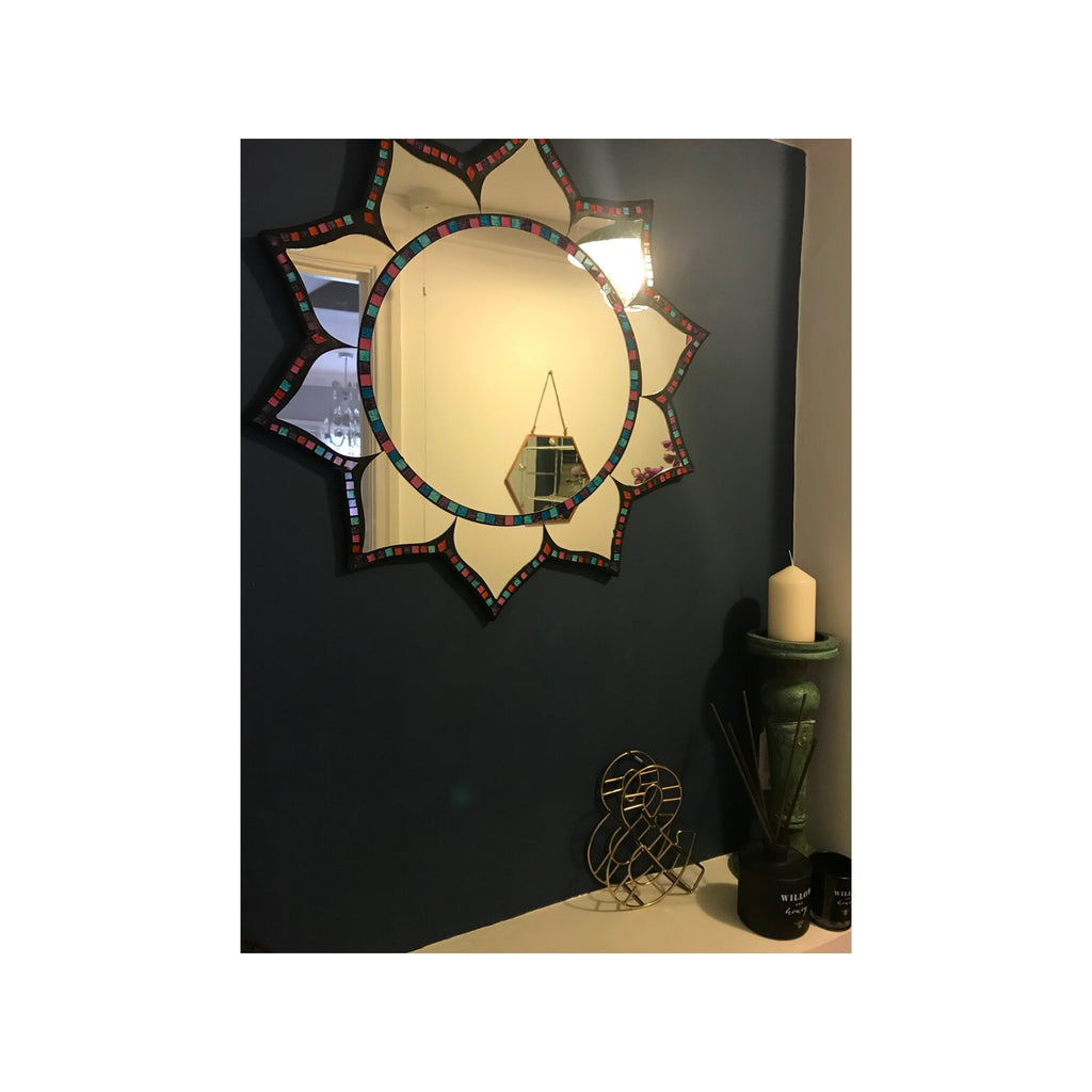 Mosaic Lotus Mirror