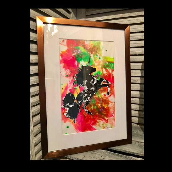 Unicorn Painting - Framed