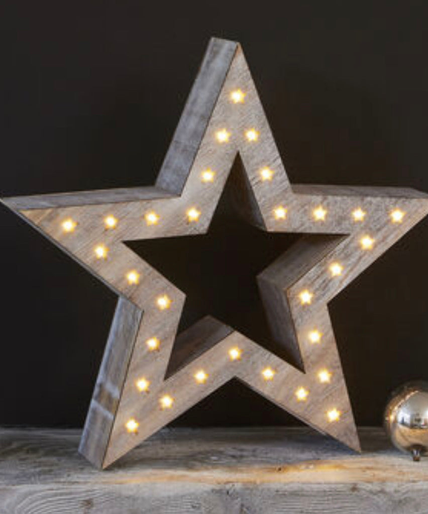 Large Natural LED Star