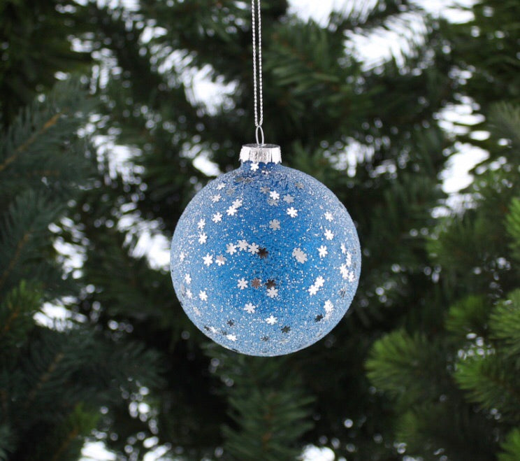 Blue and Silver Star Bauble