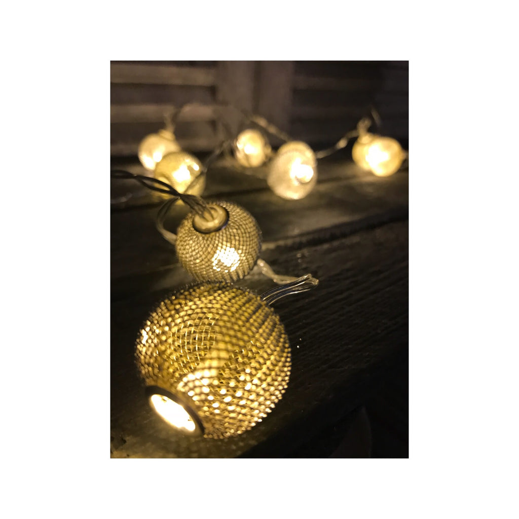 Gold Sparkle String Fairy Lights