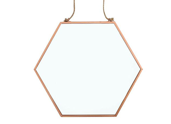 Geometric Copper Mirror