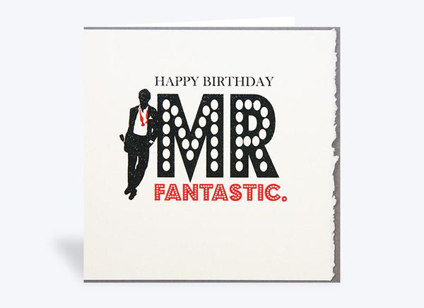 Mr Fantastic Happy Birthday Card