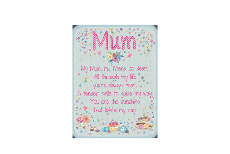 Mini Sentiment Mum Metal Sign