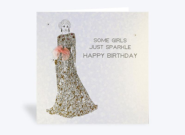 Some Girls Just Sparkle Birthday Card