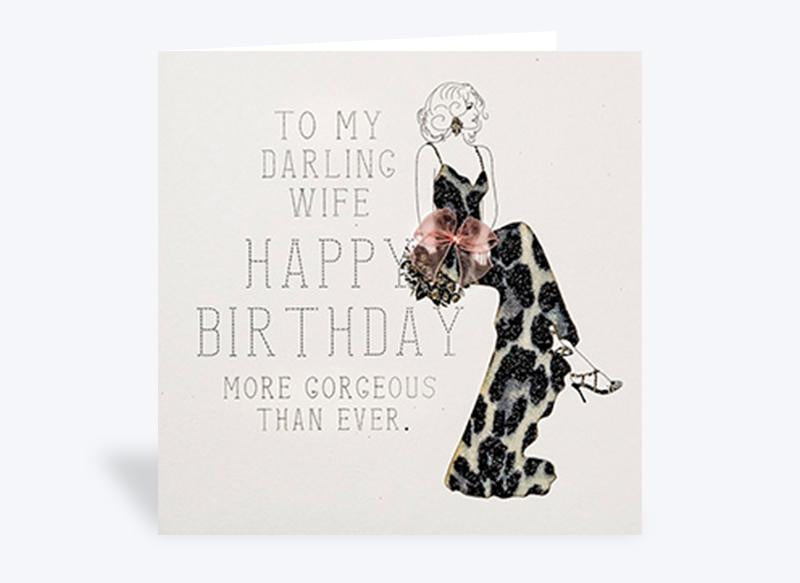To My Darling Wife Birthday Card
