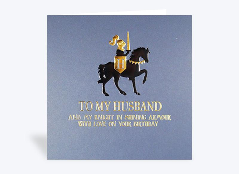 To My Husband and My Knight Birthday Card