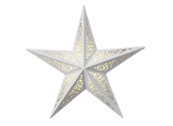 white-decorative-5-point-star-w/led