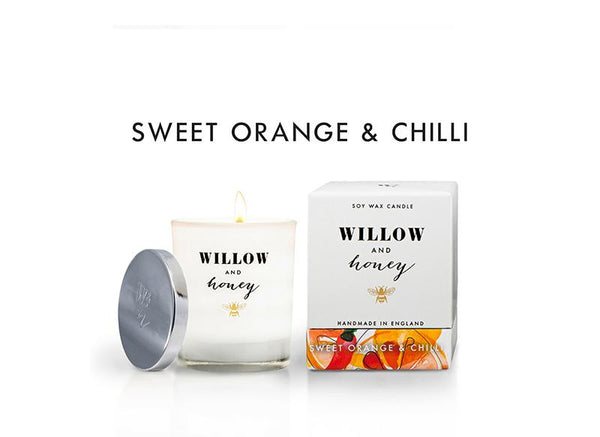 White Sweet Orange and Chilli 220g - Candle