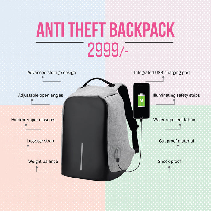 5 Unique Ways to Make Your Travel Easy With Anti-Theft Backpack