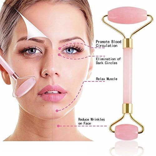 Jade Rose Quartz Facial Massage Roller
