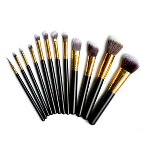12PCS BLACK PERFECT EYE SHADOW BLENDING BRUSH SET