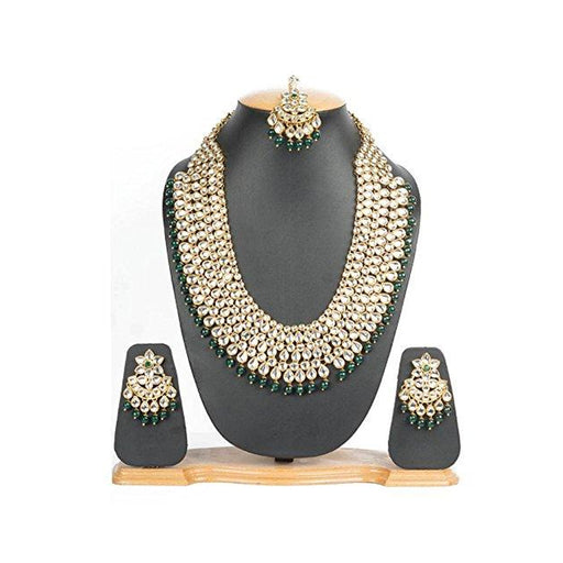Handcrafted Long & Heavy Necklace with TIKA & EARINGS