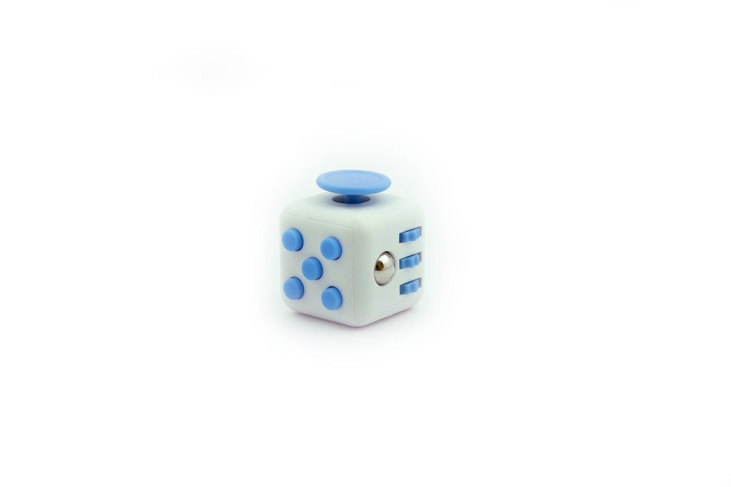 White and Blue Fidget Cube