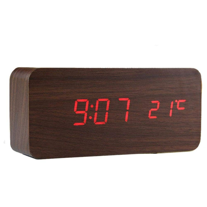 Wooden Red LED Digital Clock Price