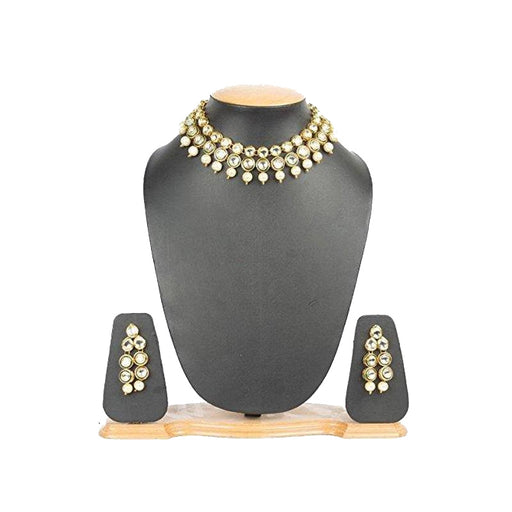 Handcrafted KUNDAN & Pearl Choker Necklace