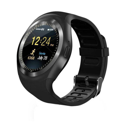 Y1 BLACK SMART WATCH   (Black Strap FREE SIZE)
