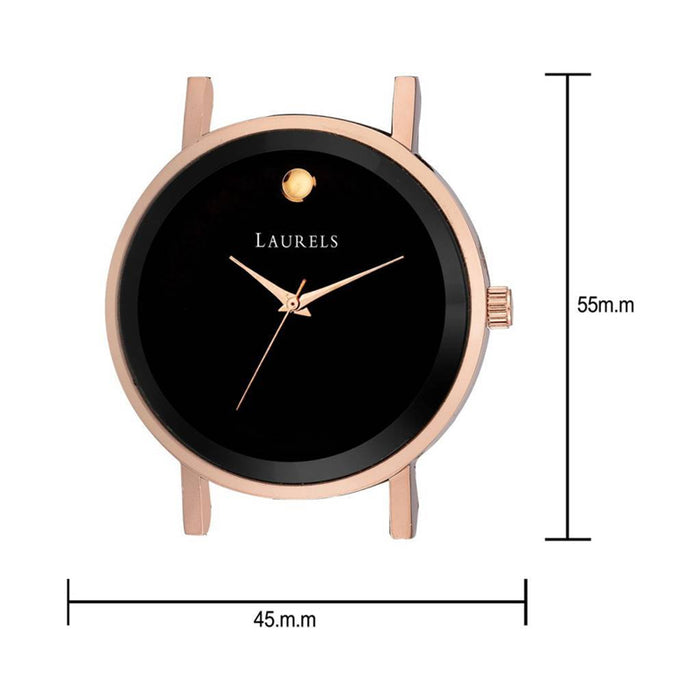 Commuter Black Dial Men's Day Date Wrist Watch- LMW-CM-020902