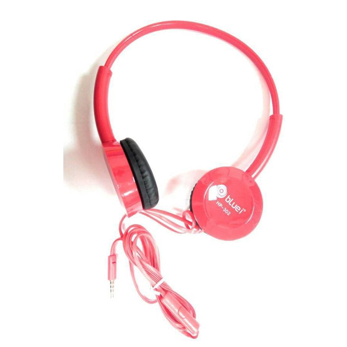 Wired Headset with Mic-HP-302  (Red)