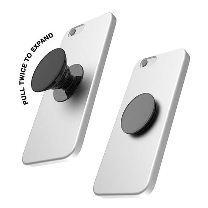 Pop Sockets-  Expanding Stand and Grip Holder for Smartphones and Tablets (White)