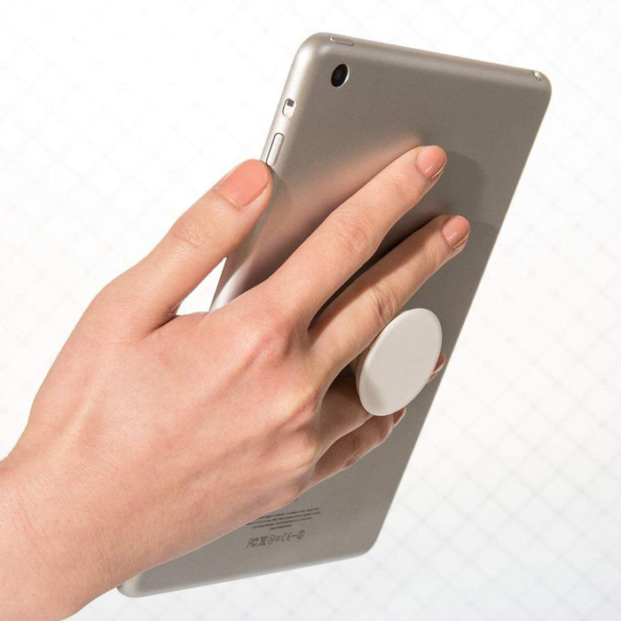 Expanding Stand and Grip Pop Holder for Smartphones and Tablets - White