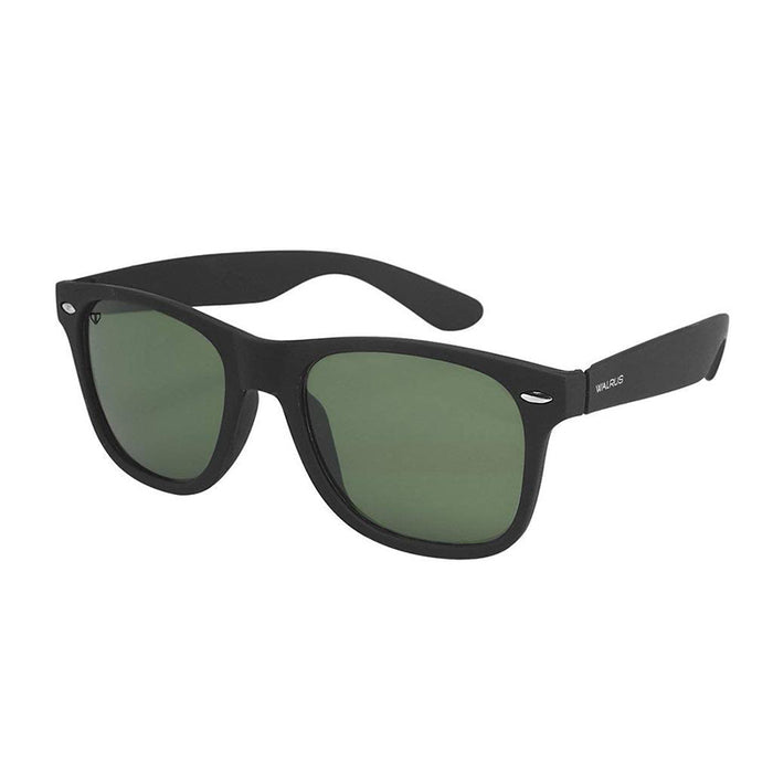 Unisex Sunglass - UV Protected Matt Finish Wayfarer - Black Lens - DD-020202