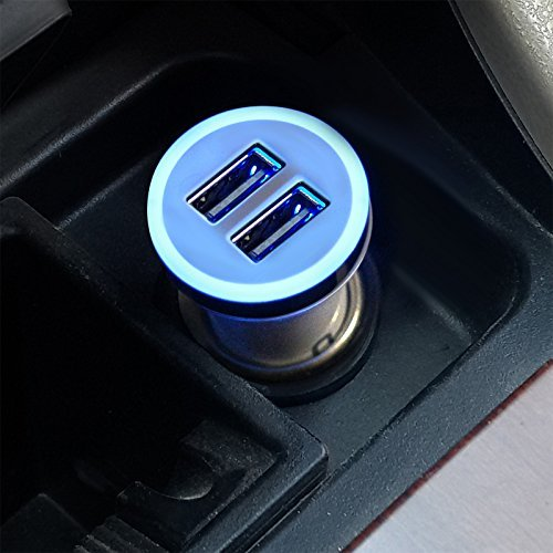 Car Charger with 2 Adaptive Fast port