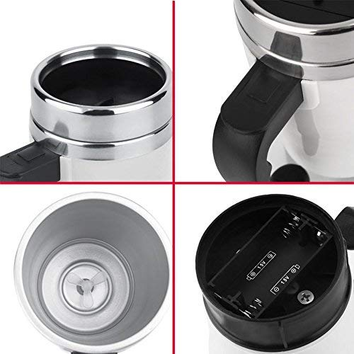 Quirk Automatic Stainless Coffee Mixing Cup Blender Self Stirring Mug